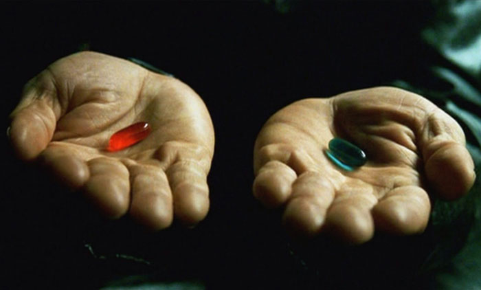 Red Pill Blue Pill Matrix