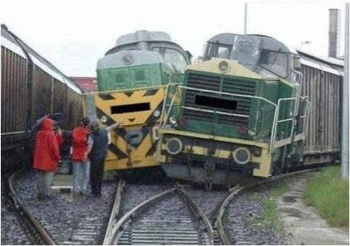 Two Trains Colliding